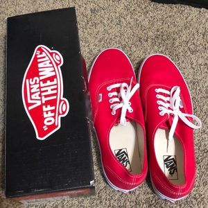 Vans Shoes - Vans Men size 13 Red &White Brand New